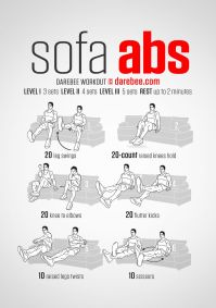 Sofa Abs Workout | Workout | Pinterest | Workout ...