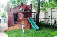 Sweet Small Yard Swing Set Solution - | Yard swing, Swing ...