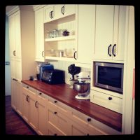 White Cabinets Butcher Block Counter   Kitchens Remodels ...