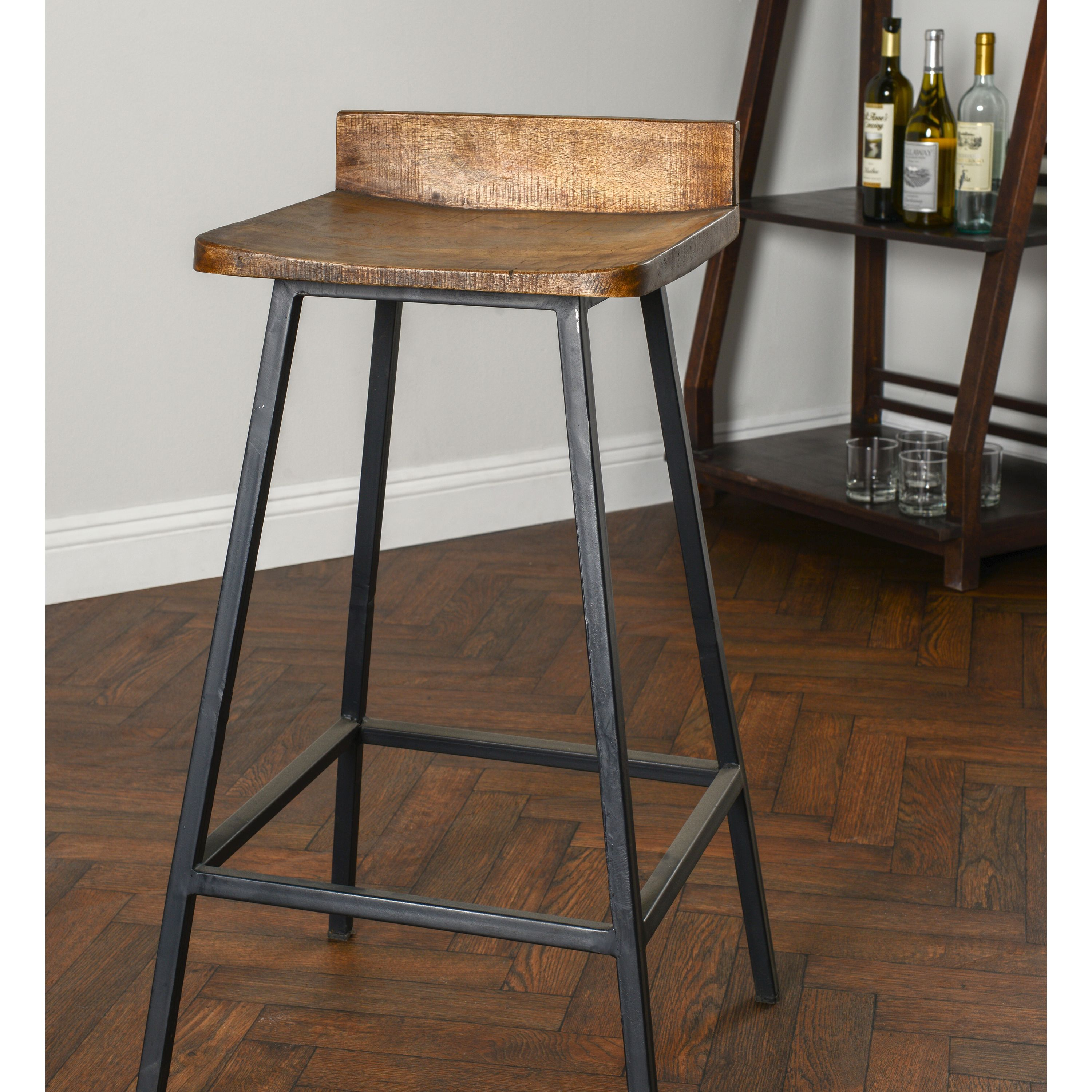 Wood Kitchen Counter Stools The Modern Barstool Is Versatile And Sturdy Making It A