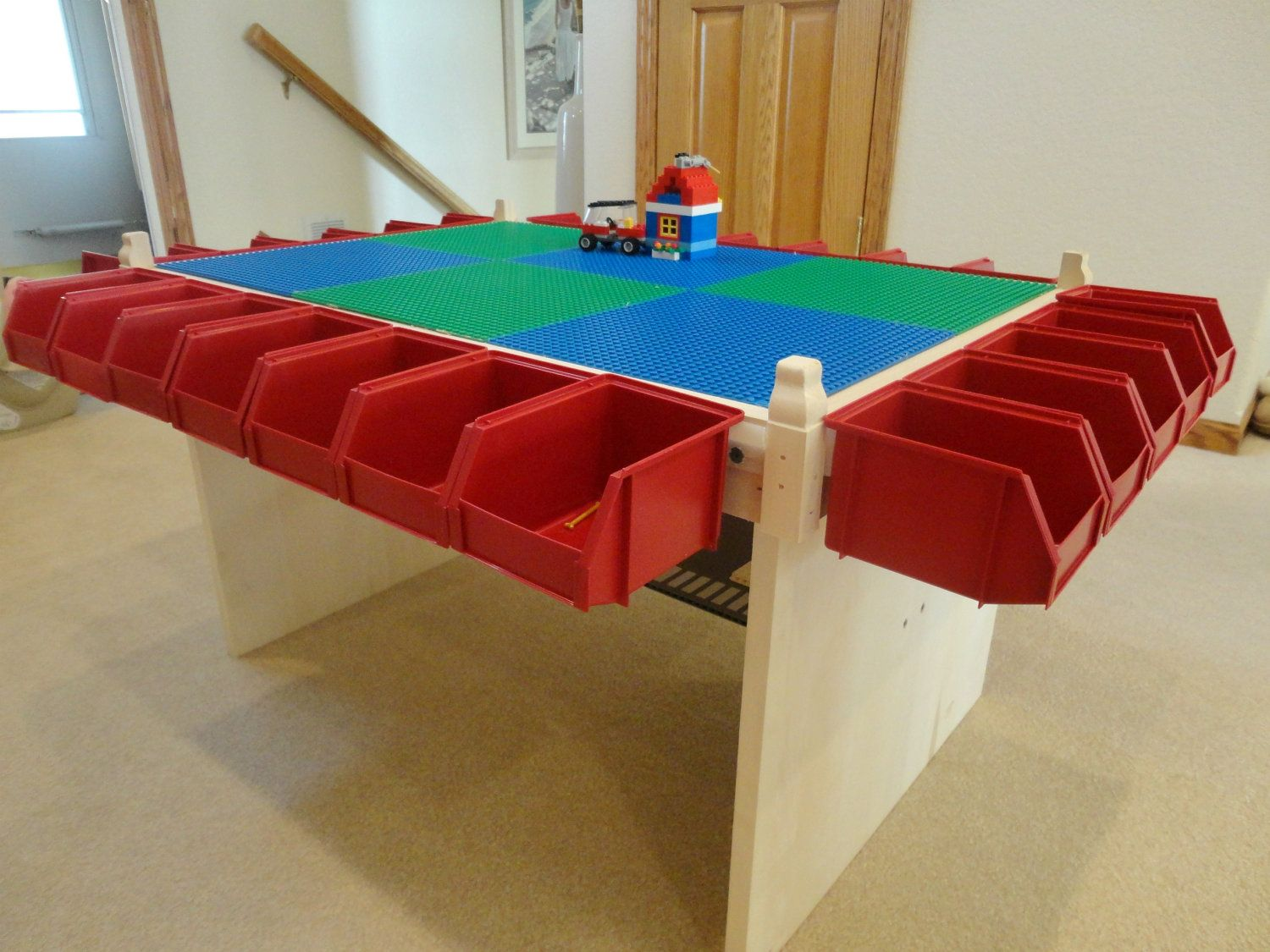 Childrens Play Table Lego Table Kids Play Table Lots Of Storage Boys Toy