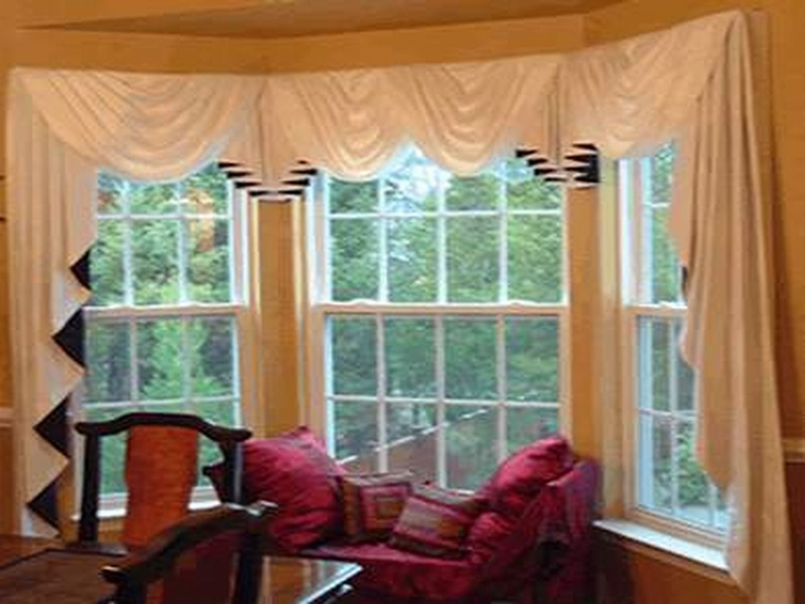 Curtain rods for bay windows australia and cafe curtain rods for bay windows