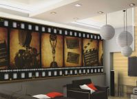 Home Theater Decor Film FILMSTRIP Wallpaper Wall Mural ...