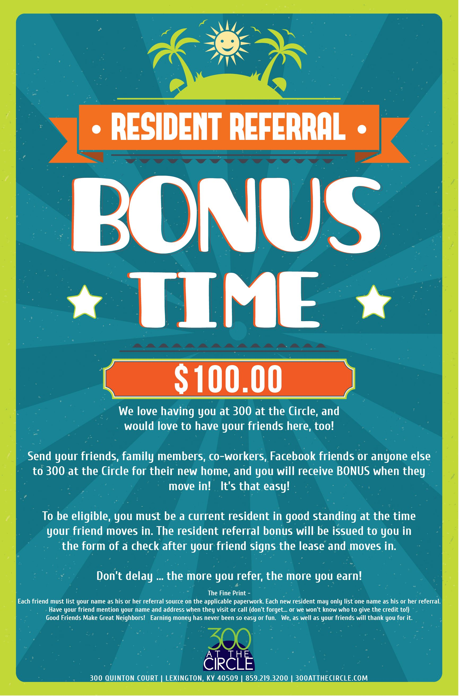 resident referral flyers