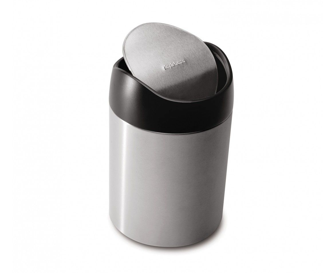 Small Metal Trash Cans With Lids 15 At Simplehuman 1 5l Small Steel Countertop Trash Can