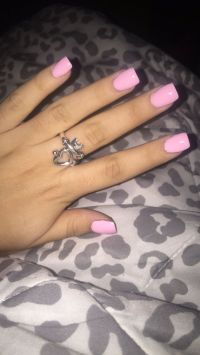 Light pink short acrylics. | NAILS | Pinterest | Short ...