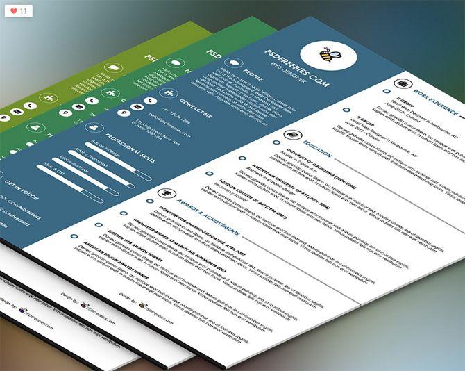40 Best Free Resume Templates 2017 PSD, AI, DOC Free printable - printable resume templates