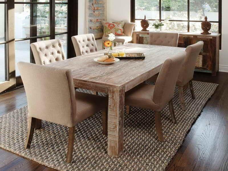 Kitchen:Dark Laminate Flooring Large Rustic Dining Table