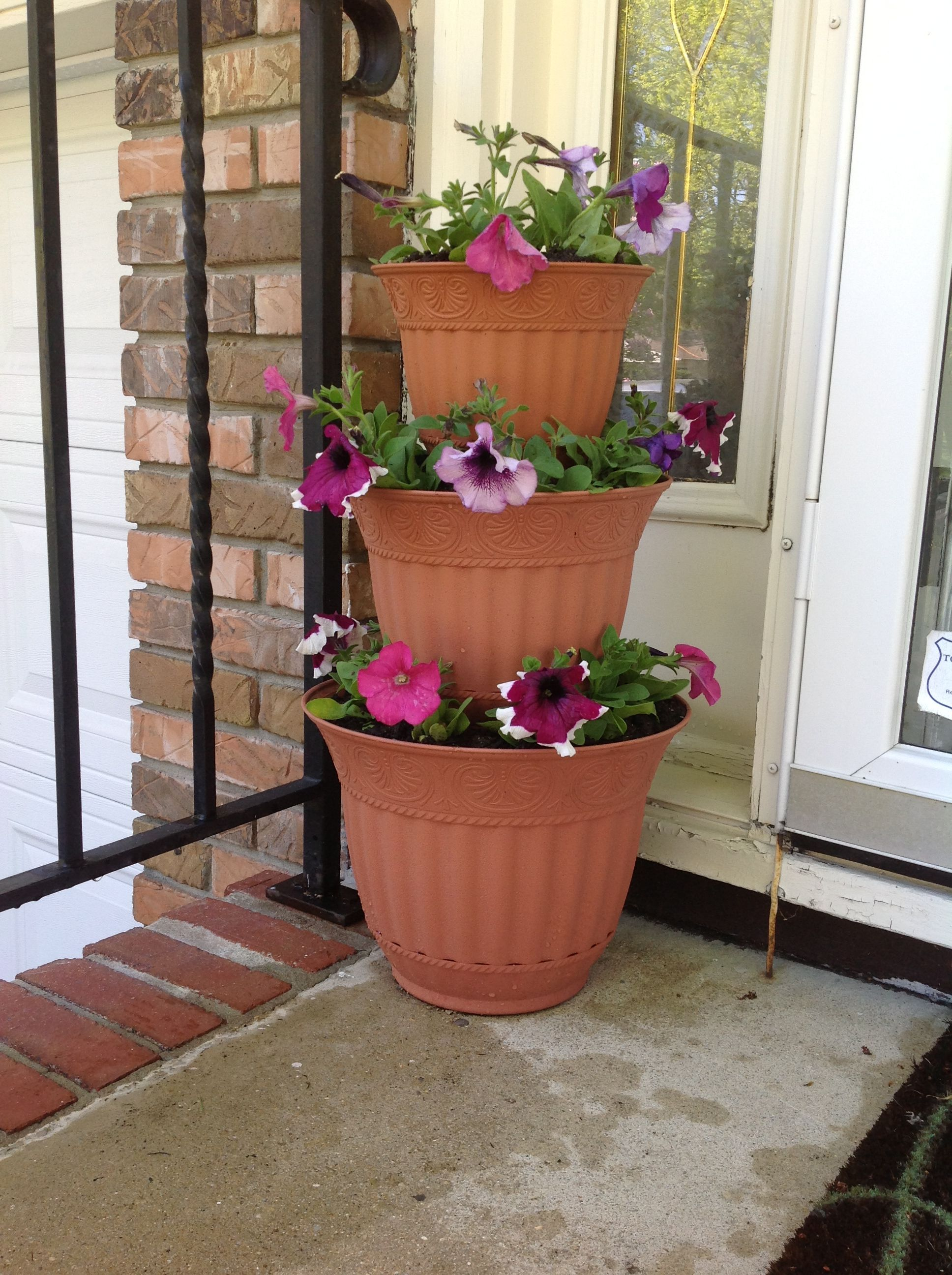 Three Tier Flower Pots 3 Three Tiered Flower Pot Gardening Outdoors Pinterest