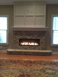 Linear fireplace with tv above | Fireplace | Pinterest ...