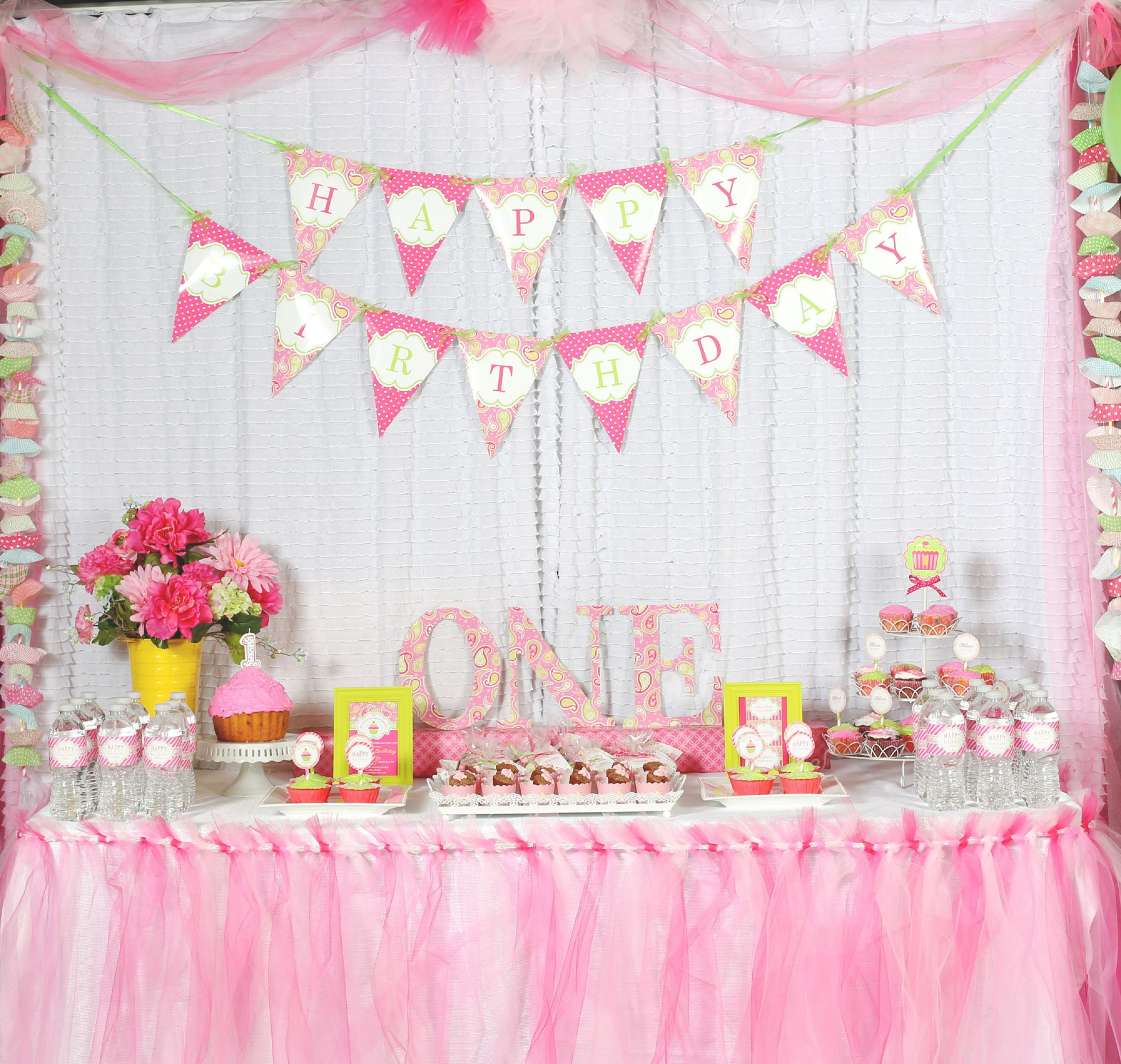 1st Birthday Party Decoration Ideas At Home - Elitflat