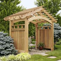 Arching Garden Arbor Woodworking Plan, Outdoor Backyard ...
