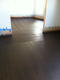 Maple flooring border with Heartpine flooring for body ...