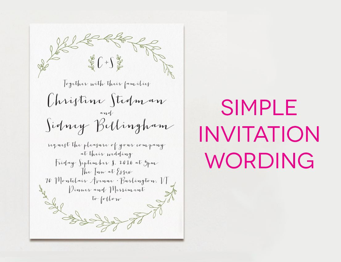 wedding invitations samples 15 Examples of Wedding Invitation Wording You Can Steal