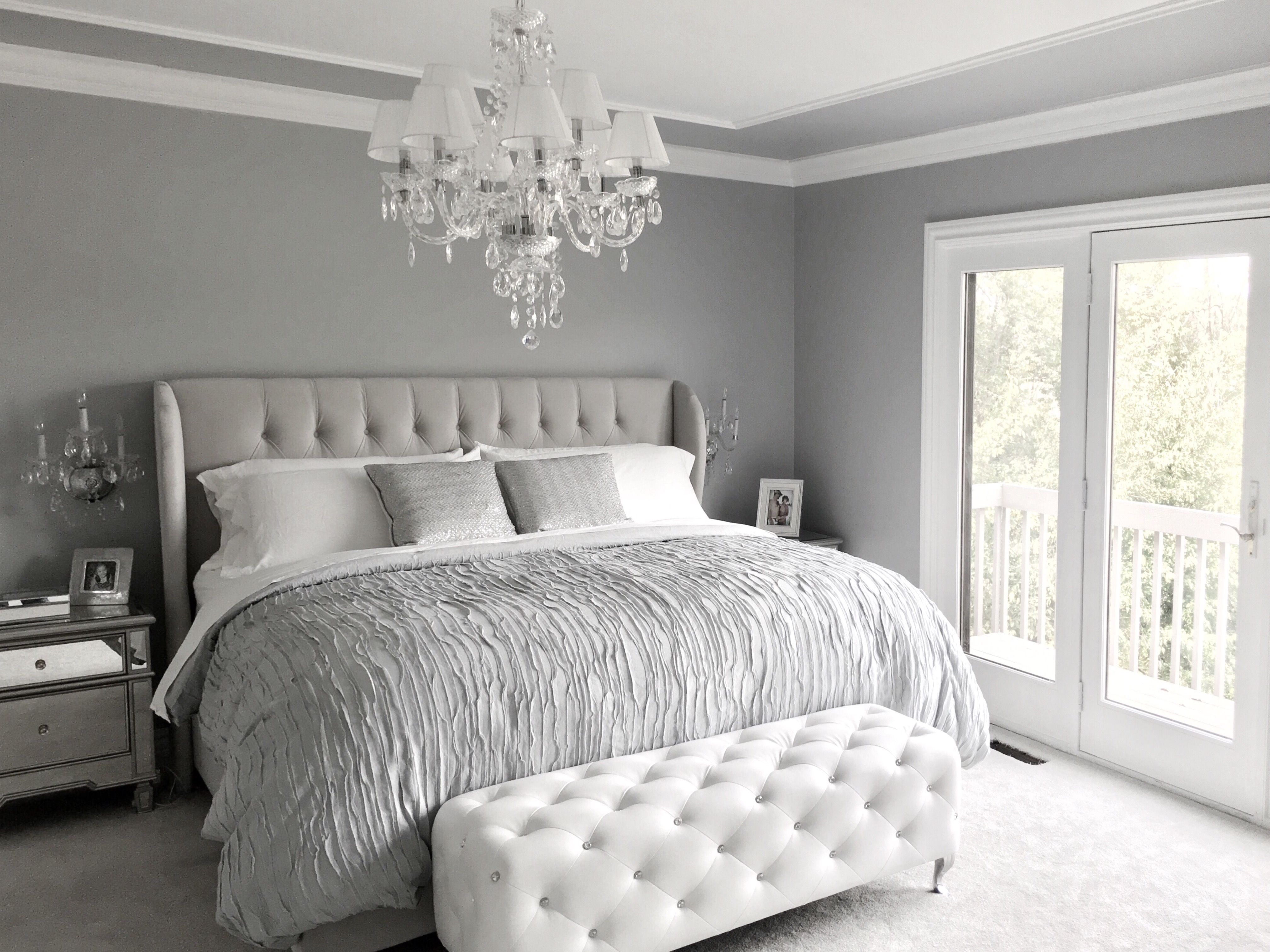 Bedroom Design Ideas Blue And Grey Glamorous Grey Bedroom Decor Grey Tufted Headboard