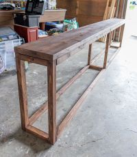 The 25+ best Diy sofa table ideas on Pinterest | Behind ...