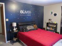 Star Wars Themed Bedroom via Little Mudpies one dark wall ...