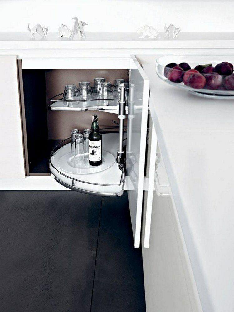 Ein Eckschrank-Karussel ist sehr nützlich Küchen Ideen - eckschrank kueche einrichtung ideen