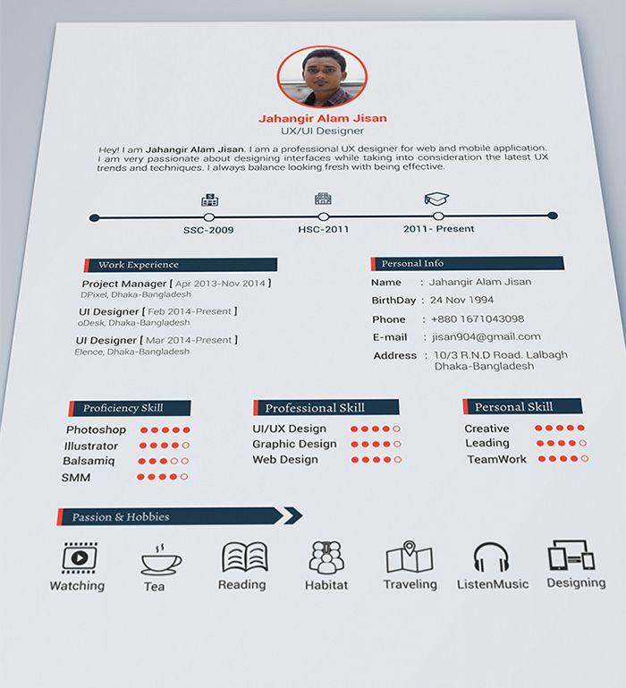 30 Free \ Beautiful Resume Templates To Download cv maken - download resume