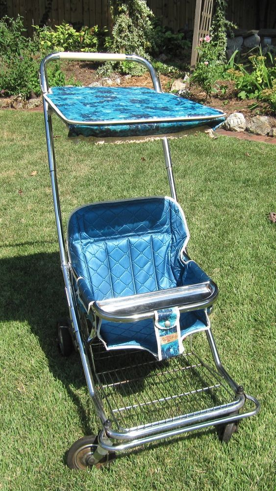 Double Pushchair For Toddlers Vintage Taylor Tot Baby Stroller Pram Retro Turquoise