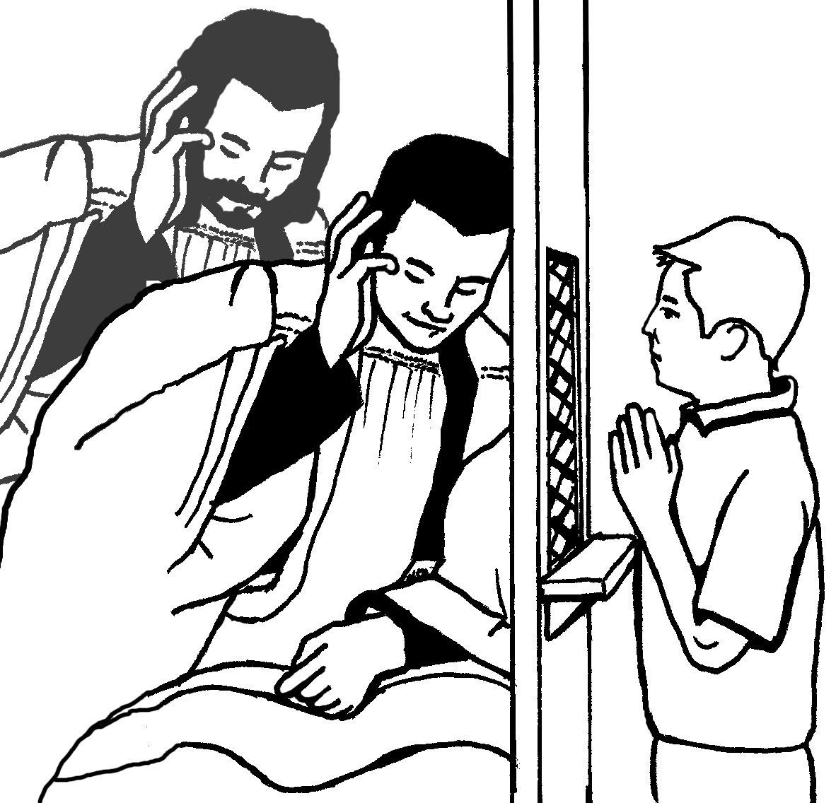 coloring page of catholic priest