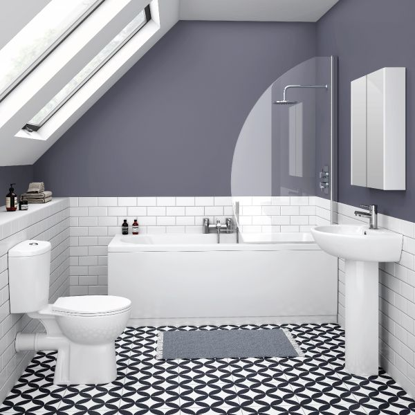 White And Grey Metro Tile Bathroom Google Search Bathroom Ideas Pinterest More Metro