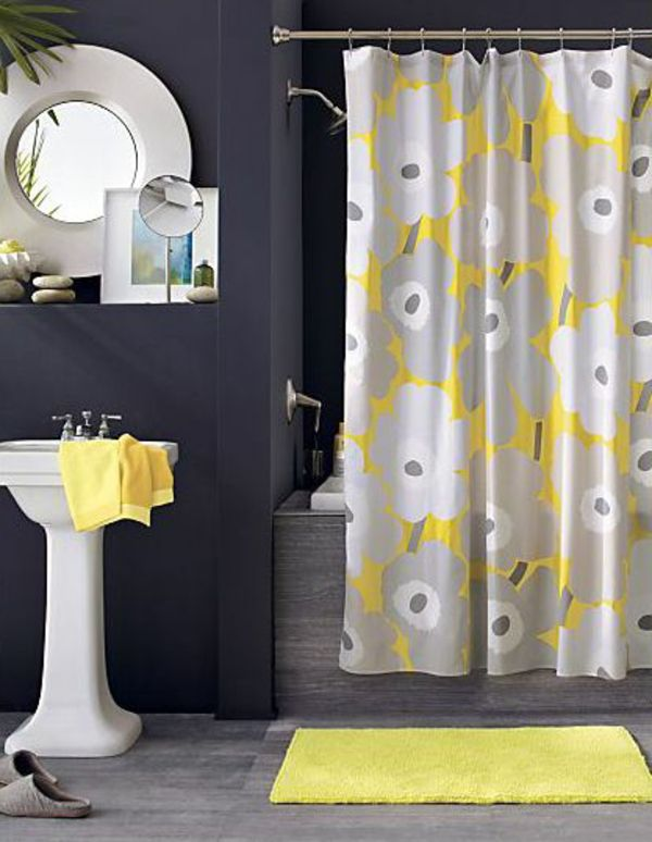 Wunderschönes Badezimmer Dunkelgrau Gelb Farben U2013 Neue Trends   Badezimmer  Gelb