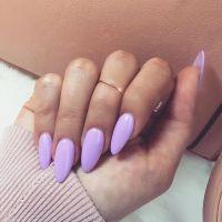 Perfect Lavender almond shaped nails | Nail Art ...