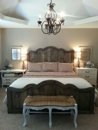 Love my new French farmhouse chic bed and bedroom. Rustic ...