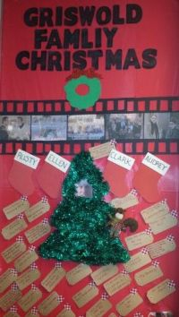 Office door decorating. . Christmas Vacation themed. Film ...