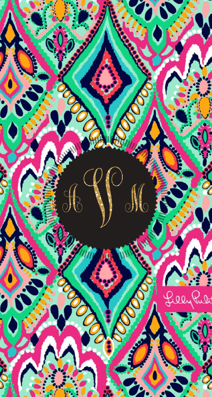 lilly pulitzer wallpaper monogram maker