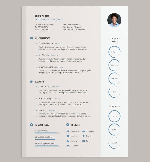 Free-Ai-Simple-CV-Design-Template CV Pinterest Cv design - resume design templates