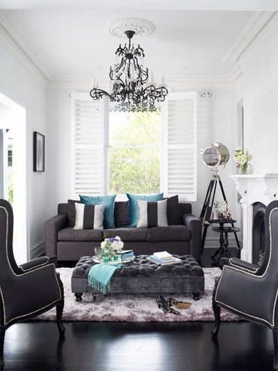 Oliver Interiors - living rooms - gray living room, gray sofa, 2 - silver living room furniture