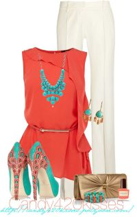 """""""Turquoise With Your Coral Contest"""" by candy420kisses ..."""