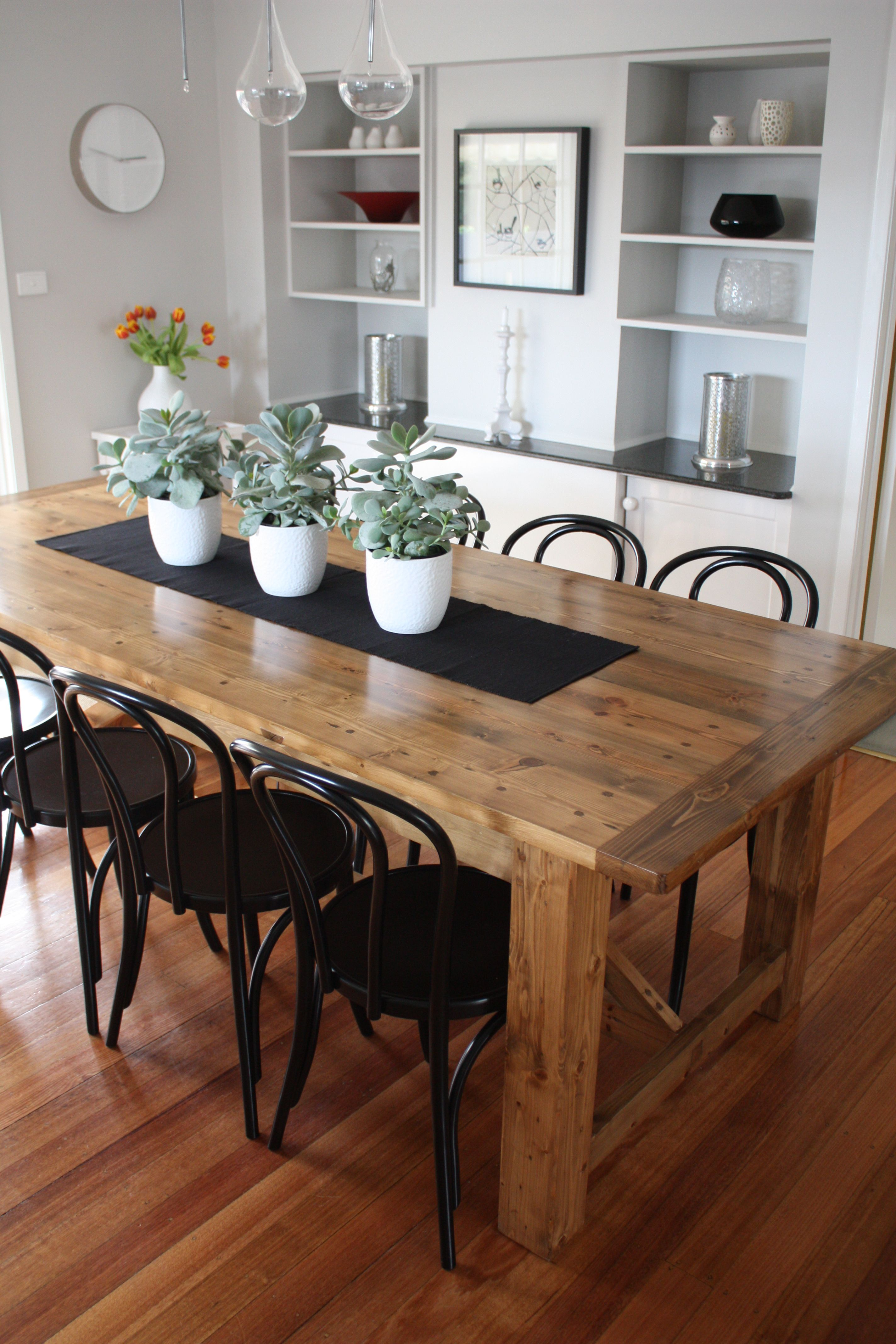rustic kitchen table Rustic Dining Table pairs with Bentwood Chairs