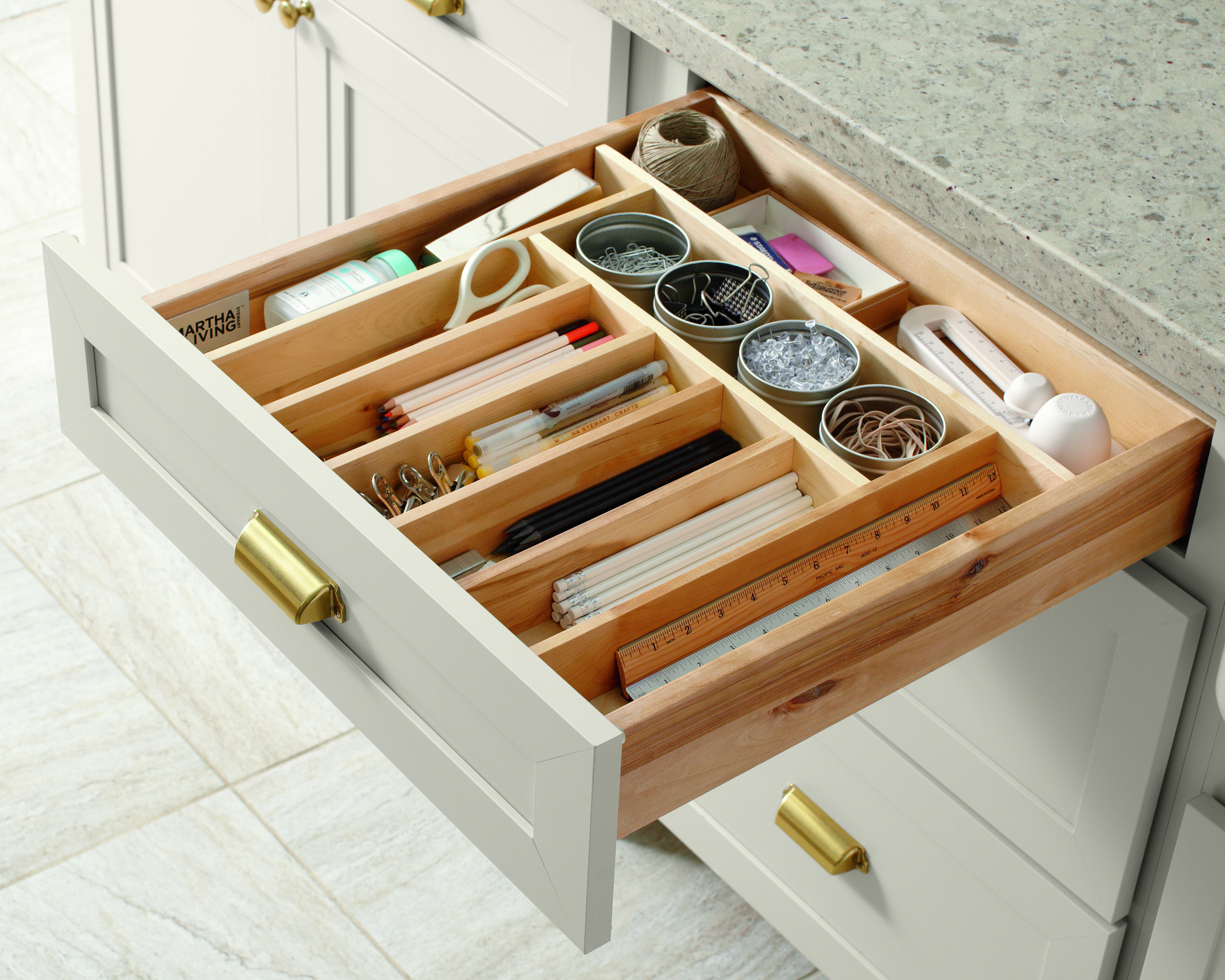 Kitchen Cabinet Drawer Organizers Keep Your Kitchen Organized With Built In Drawer
