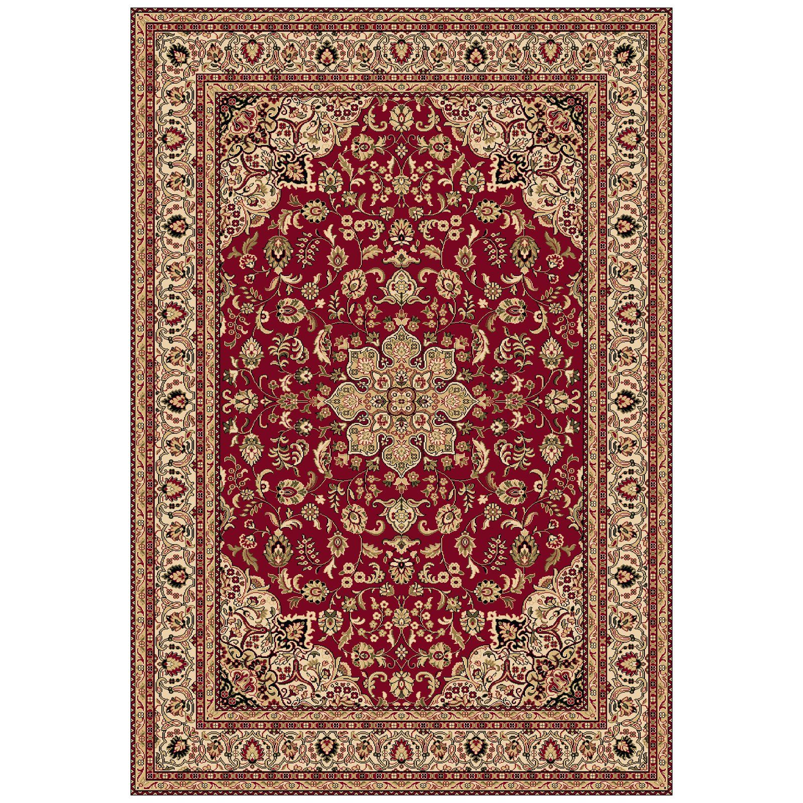 Red Oriental Rug Oriental Carpets Dynamic Rugs Shiraz 51010 Medallion