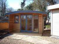 Shedworking: Curved roof garden office | Dream Home - Tiny ...