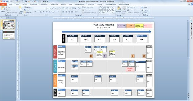 a free story map #PowerPoint #template you can easily download for - user story template