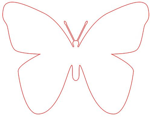 Big Butterfly Pattern by The Nerone Family, via Flickr Spring - butterfly template