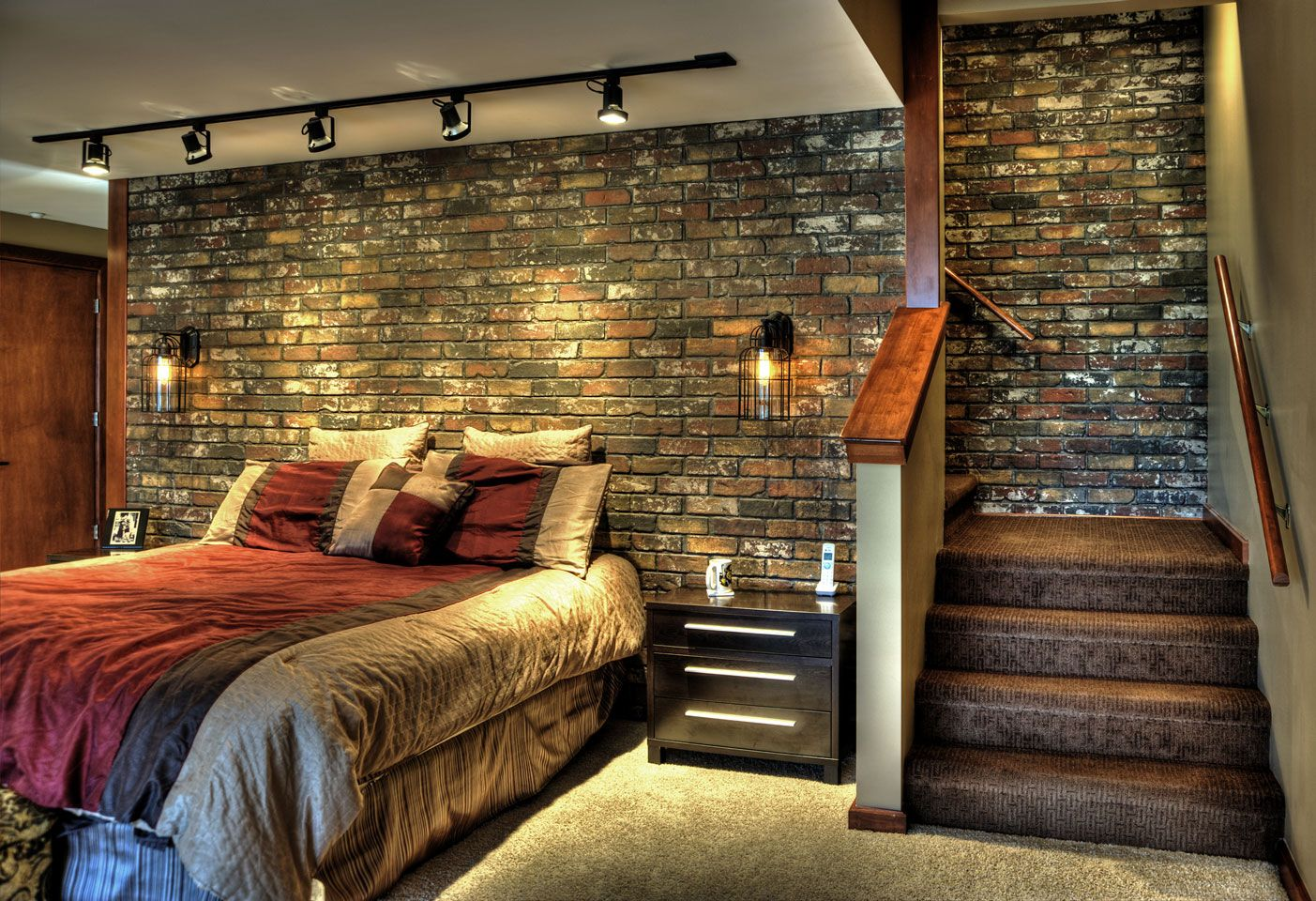 Covering Interior Brick Walls Love The Used Faux Brick Panels Perfect For A Basement