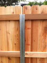 Metal fence post for wood fence | Yard | Pinterest | Metal ...
