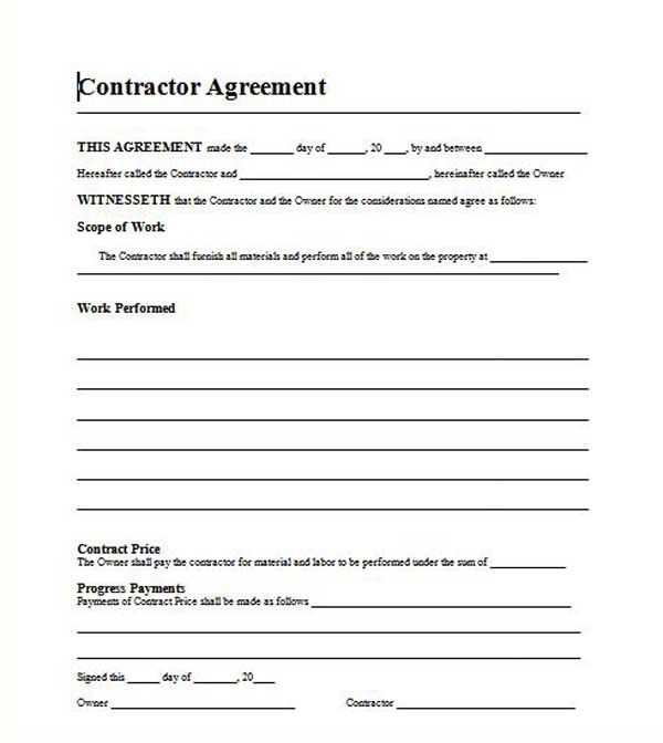 Free Template Residential Roofing Contract kkk Pinterest - roofing contract template
