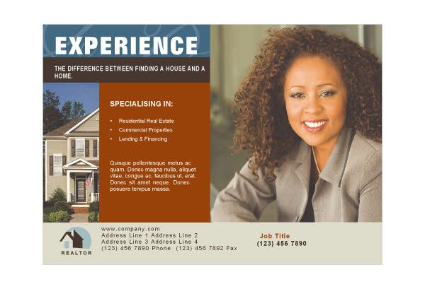 resume templates for real estate agents