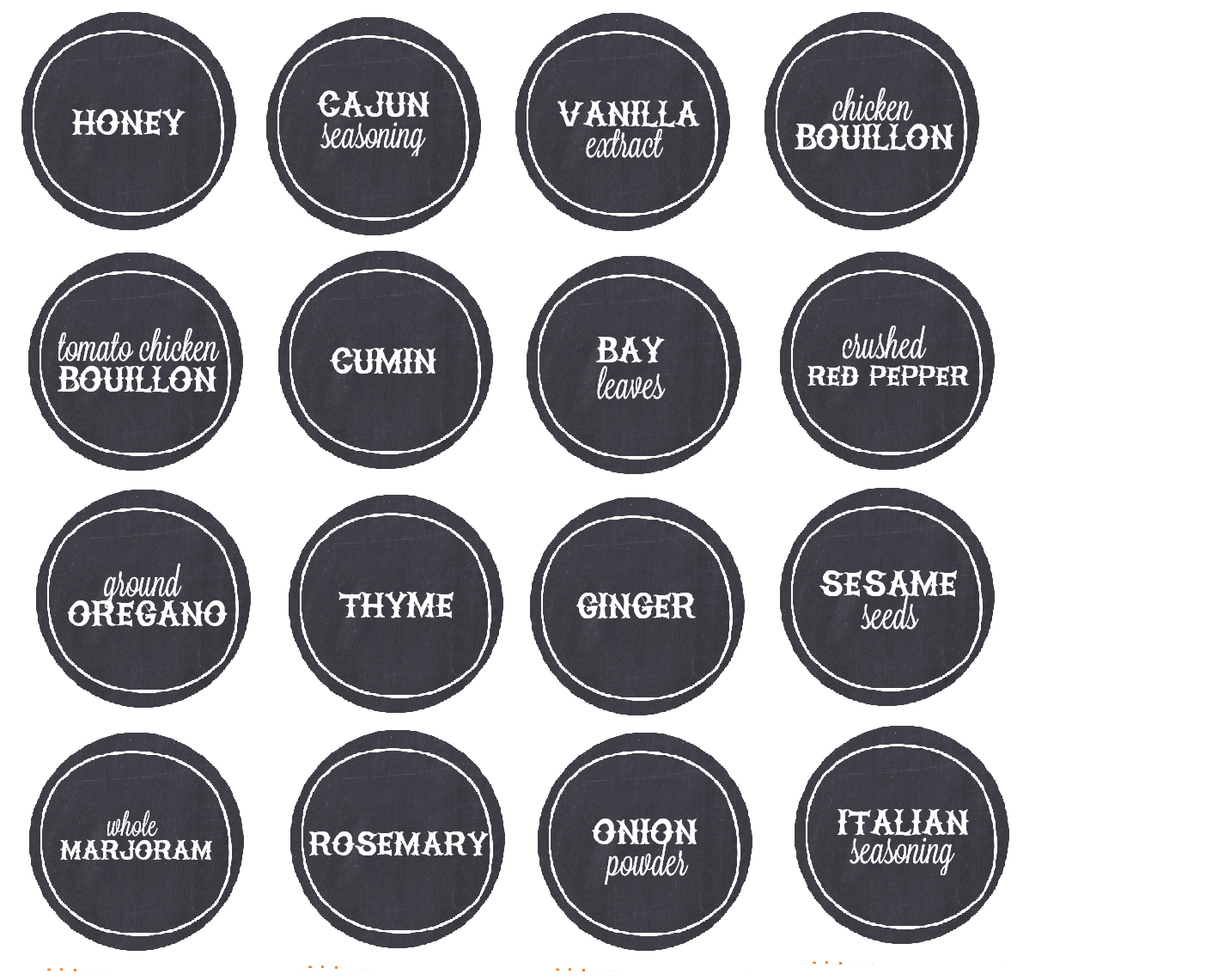 Spice Label Templates - Costumepartyrun