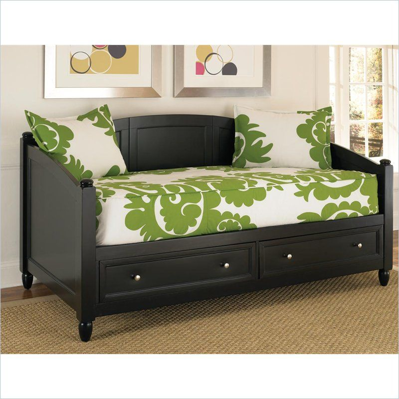 Storage Wood Daybed In Black Daybed Bedford Town Fc