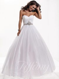 debutante gowns white