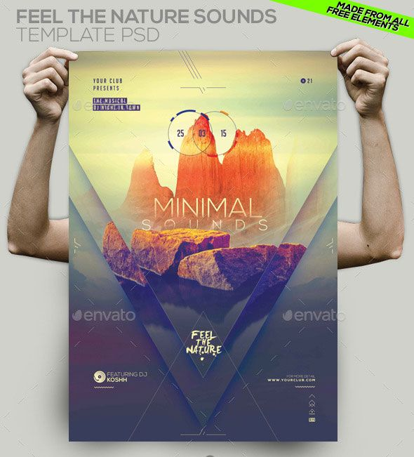 Minimal Party Template PSD Flyer\/ Poster Inspiration print - psd brochure design inspiration