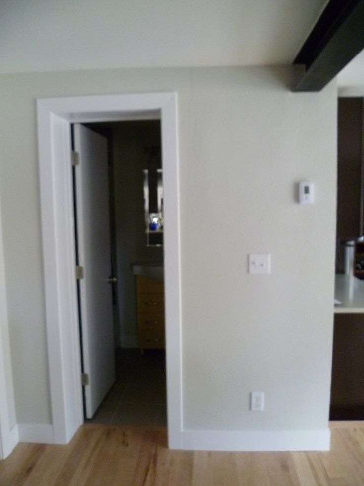 Simple door casing - casing about 75 of baseboard height - bathroom baseboard ideas