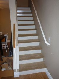 carpeted stairs wood risers - Google Search | For the Home ...